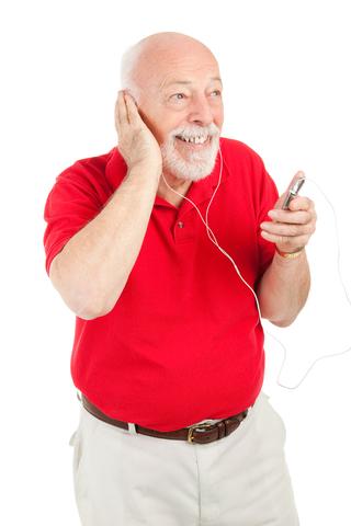 dementia patient listening to music