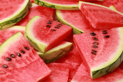 watermelon slices that may help to lower blood pressure