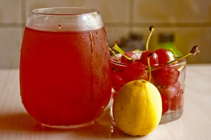 a pitcher of tart cherry juice which may aid sleep