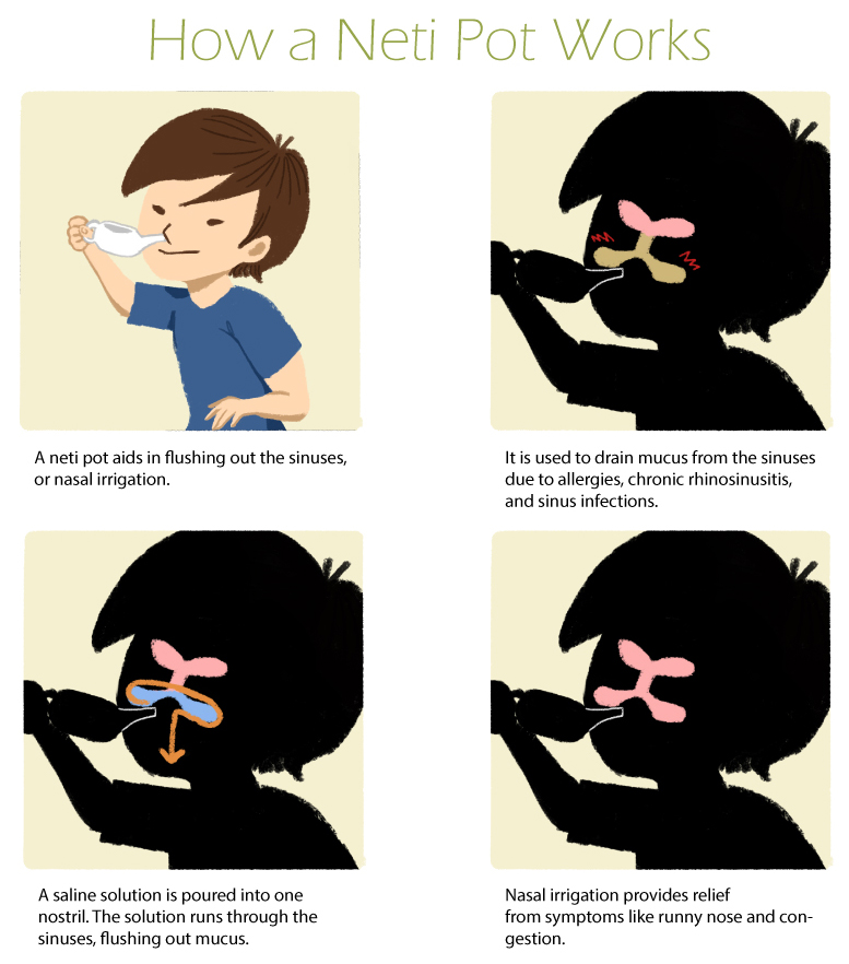 how to use a neti pot how a neti pot works