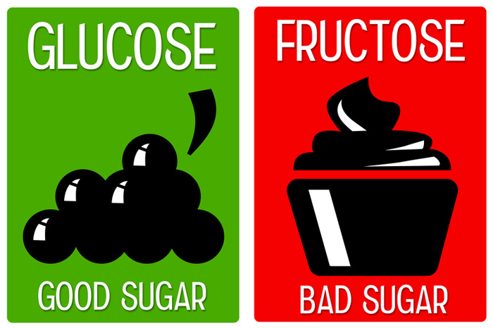 chart comparing glucose and fructose