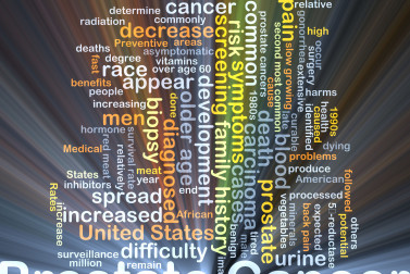 illustration of prostate cancer words and phrases