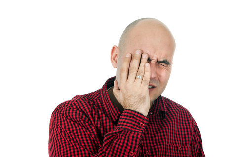 Man suffering from memory loss