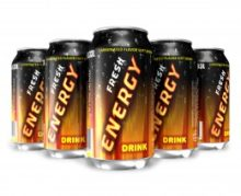 Cans of energy drink that may pose an addiction risk