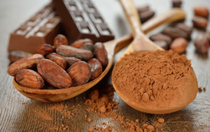 Cocoa in powder and bean form for heath health