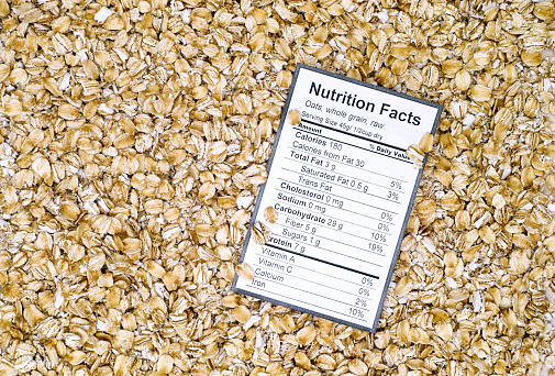 whole grain food label