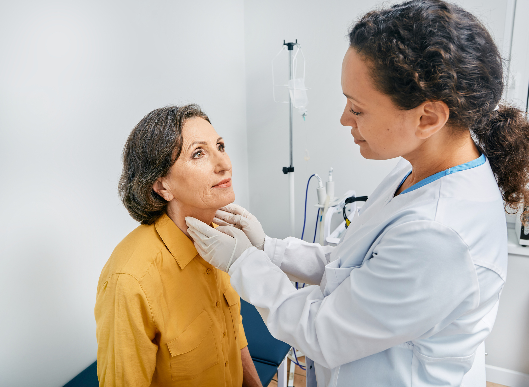 examination for iodine deficiency